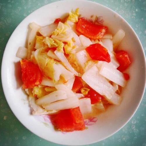 番茄炒白菜