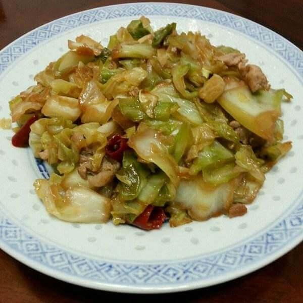 肉丝炒卷心菜