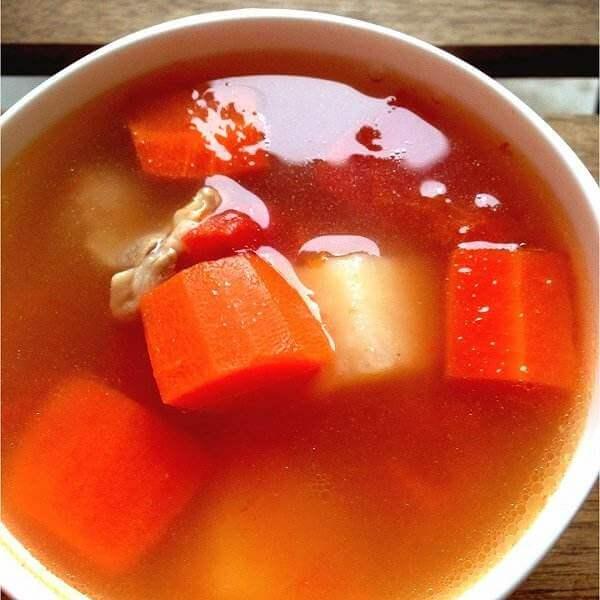 红萝卜薯仔蕃茄汤