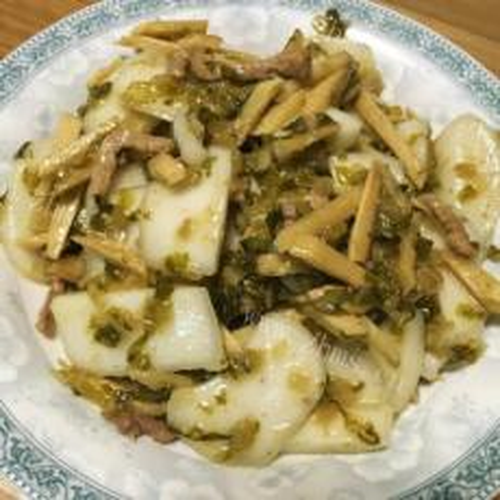 雪菜炒年糕