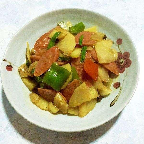 香肠炒土豆