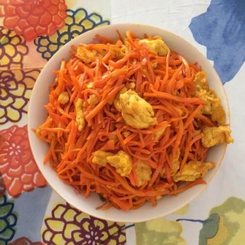 鸡蛋炒胡萝卜丝