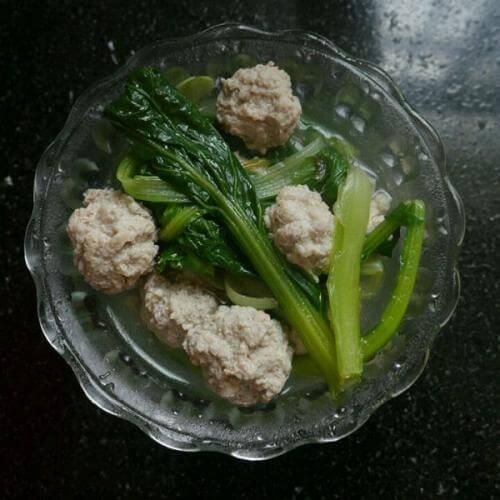 杂菇肉丸汤
