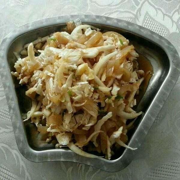 白菜心拌豆皮