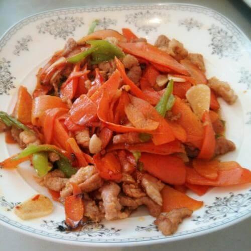 肉片胡萝卜