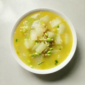 冬瓜毛豆咸肉汤