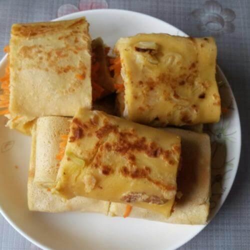 胡萝卜豆腐饼