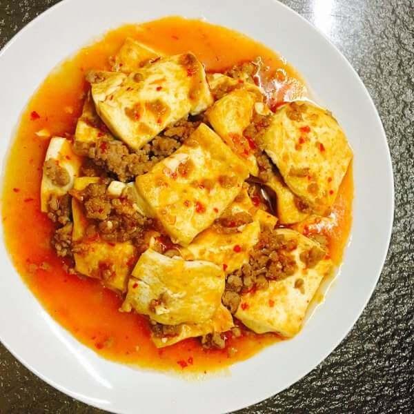 美味肉末烧豆腐