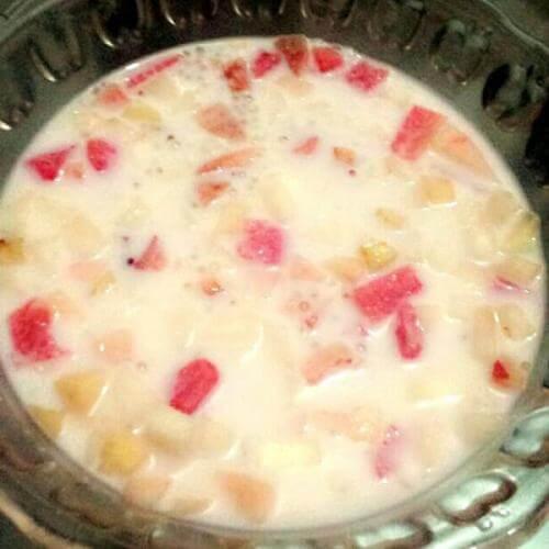 酸奶水果西米露