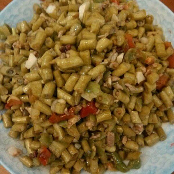 酸豆角炒虾米