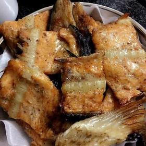 香烤三文鱼骨