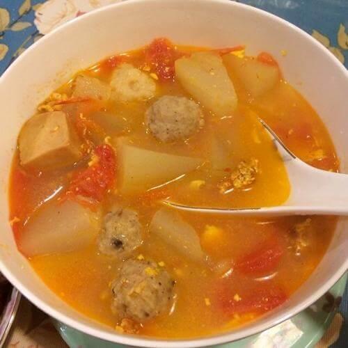 番茄鸡蛋瘦肉汤