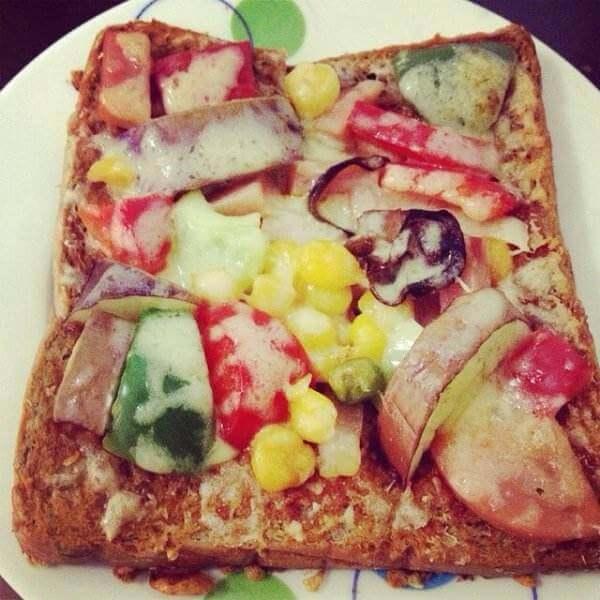 彩蔬吐司披萨