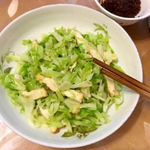 卷心菜炒豆腐