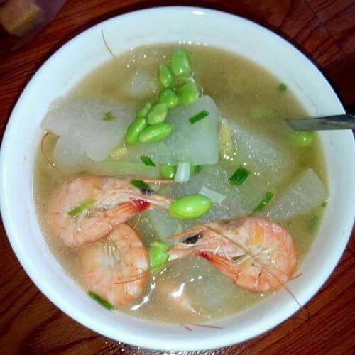 海虾毛豆冬瓜汤