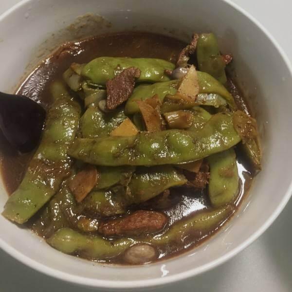 肉皮炖豆角