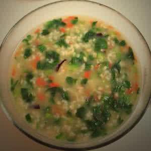 蔬菜肉末粥