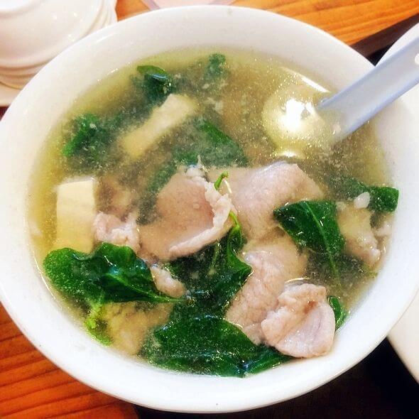 青菜肉片汤