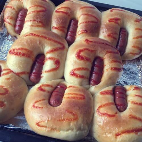 脆皮肠面包