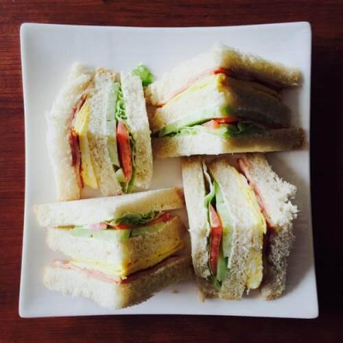 美味自制三明治