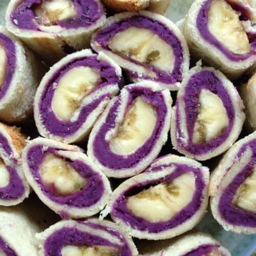 香蕉紫薯饼