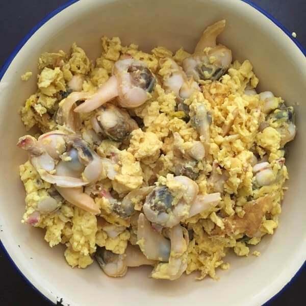 蚬子炒鸡蛋
