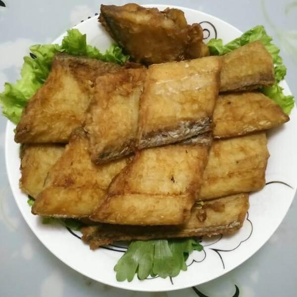 美味的干炸带鱼