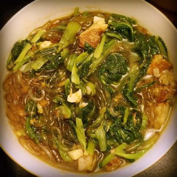 小白菜粉条汤