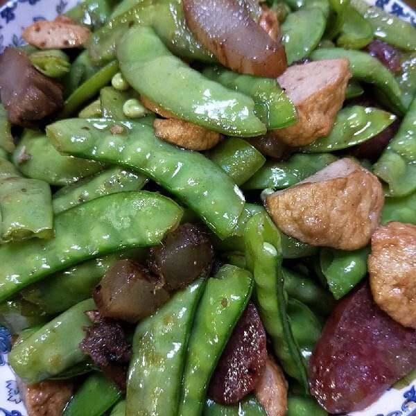 腊味炒荷豆