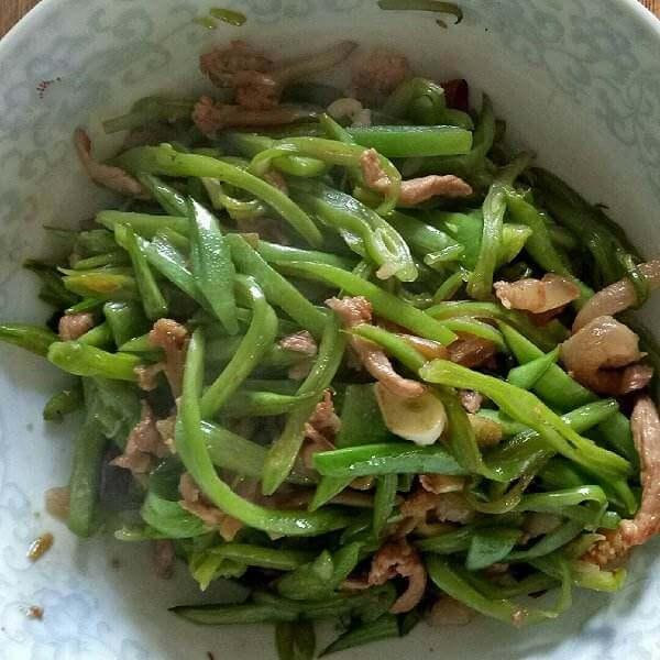 肉炒扁豆丝