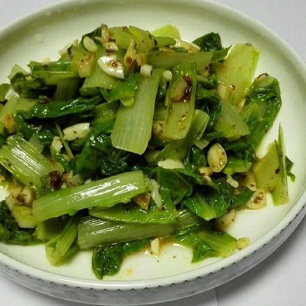 凉拌咸白菜