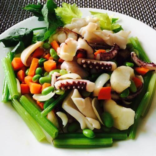 雪菜墨鱼卷