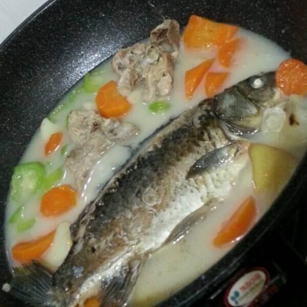 胡萝卜烧鲫鱼