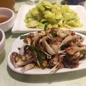 美味辣炒蛤蜊