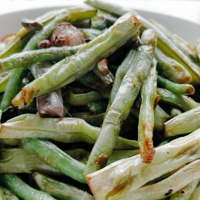 青菜炒豇豆