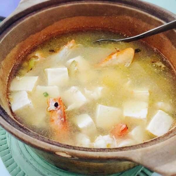 鲜虾兰花豆腐羹