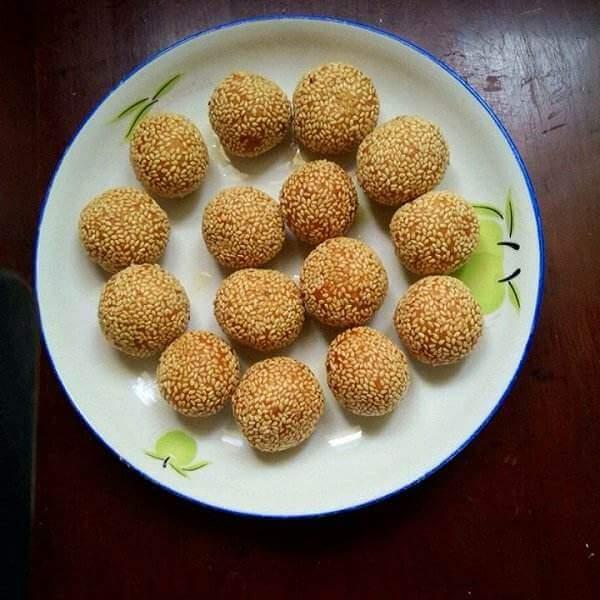 糯米豆沙芝麻球