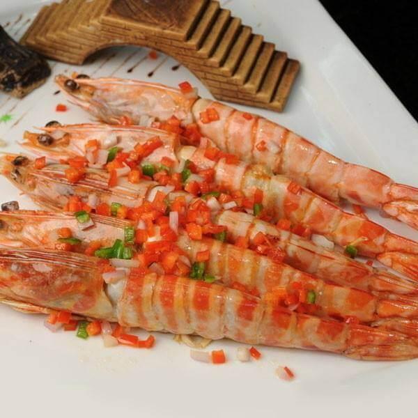 草莓汁明虾
