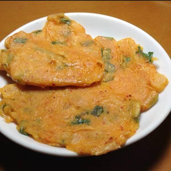 韩式海鲜泡菜饼