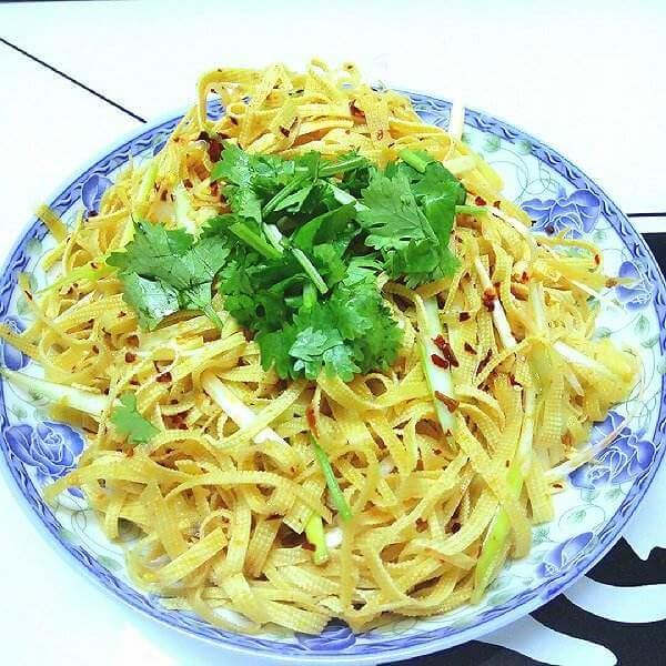 金针菇拌干豆腐丝