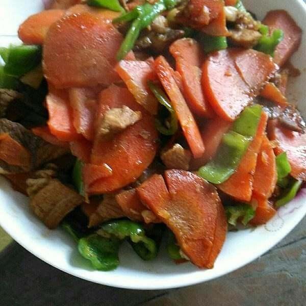 胡萝卜香煎猪肉