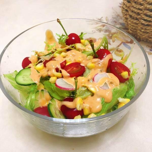 西红柿甜蜜腰豆沙拉