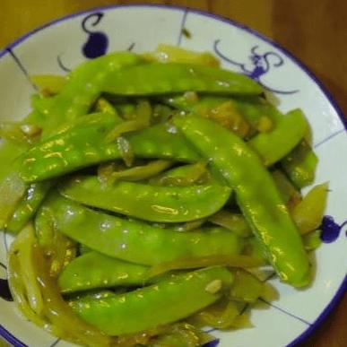 咸菜炒荷兰豆