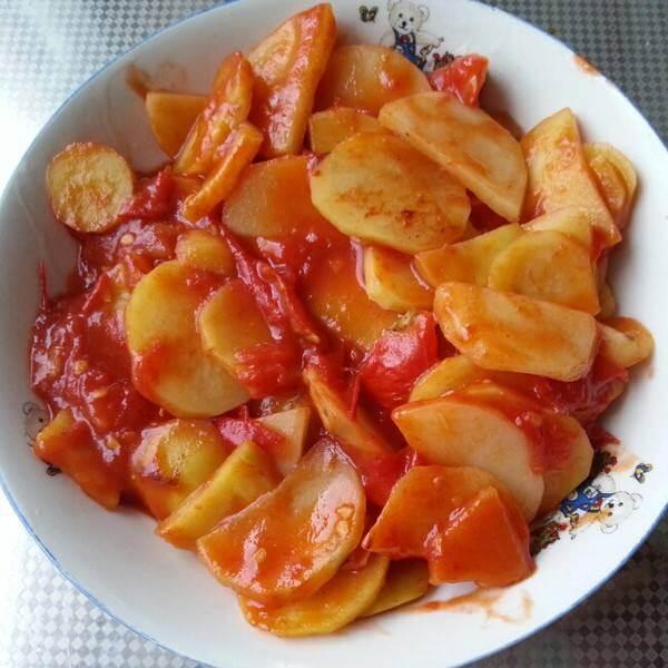 西红柿土豆肉片