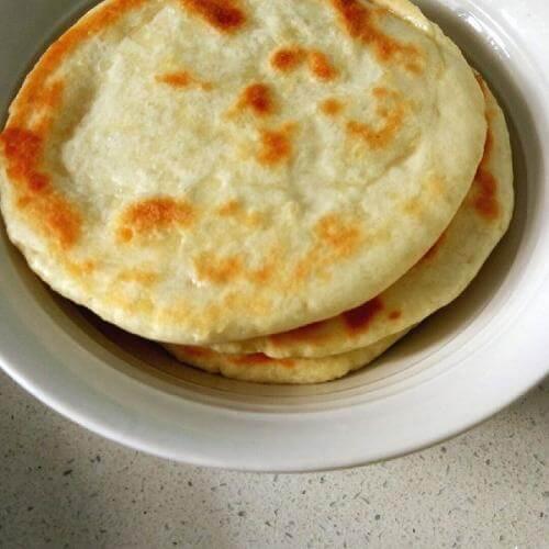 香葱玉米茸燕麦发面饼