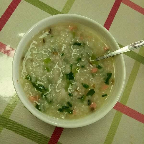 青菜火腿粥