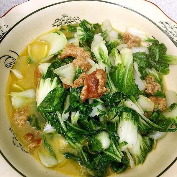 猪油渣炒青菜