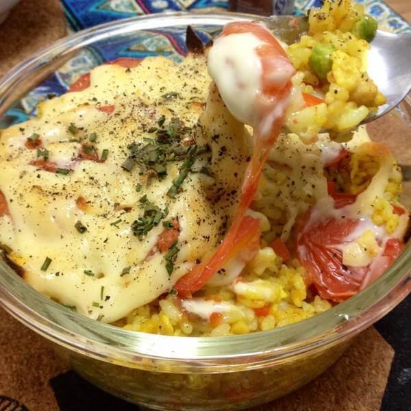 番茄奶酪烤米饭