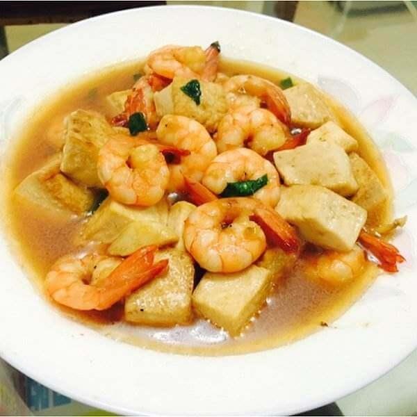 草菇虾仁豆腐