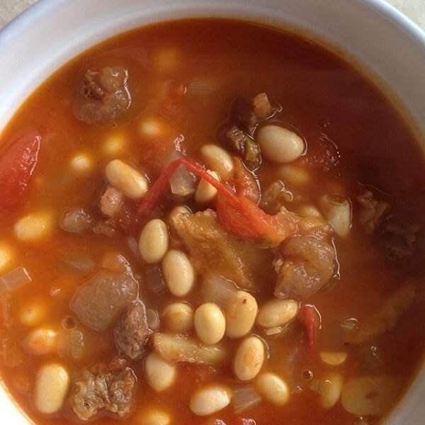 茄汁黄豆炖牛肉